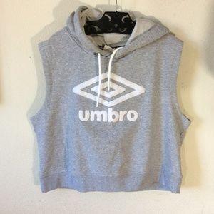 UMBRO Short Vest Hoodie Soccer Logo Jacket